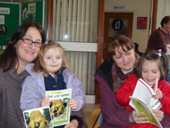 Visitors to Exeter Central's monthly drop-in coffee morning found an extra treat waiting for them - free copies of The Lost World and a readers' guide.