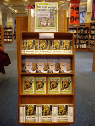 Display of books at Bristol Central Library.