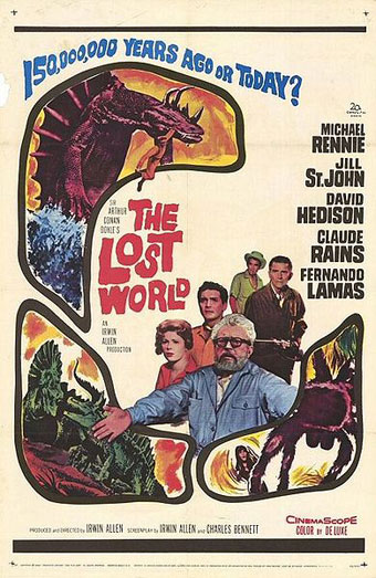 Poster for 1960s' film version of The Lost World.
