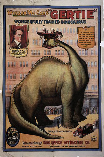 Poster for Gertie the Dinosaur (Wikipedia).