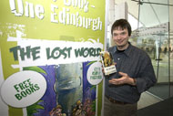 Ian Rankin supporting the campaign at the press launch in Edinburgh.