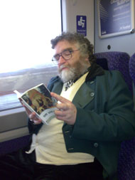 Professor Challenger, aka Brian Skillen of Glasgow's Mitchell Library, travels to Edinburgh on launch day.