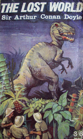 Covers of The Lost World from the 1950s and 1960s (private collection).