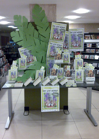 Lost World Read display at Glasgow's Mitchell Library.